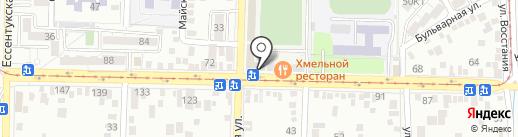 Пипетка на карте Пятигорска