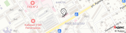 Поликлиника №2 на карте Пятигорска