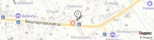 Цветочный дворик на карте Пятигорска