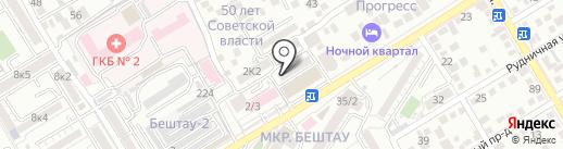 Парикмахерская на карте Пятигорска