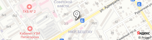 Служба заказа эвакуаторов на карте Пятигорска