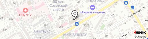 Эконом-класс на карте Пятигорска