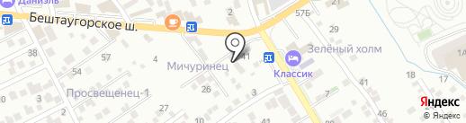 Дача на карте Пятигорска