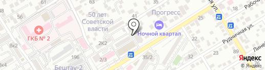 Автомойка самообслуживания на карте Пятигорска