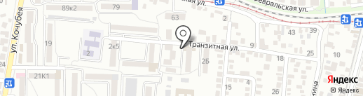 Прибой на карте Пятигорска