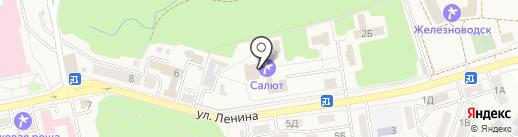 Салют на карте Железноводска