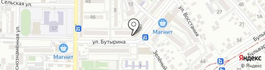 Домашний на карте Пятигорска