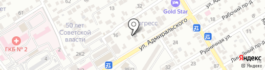Ночной Квартал на карте Пятигорска