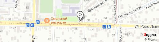 Ирис на карте Пятигорска