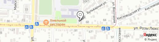 Букетон на карте Пятигорска