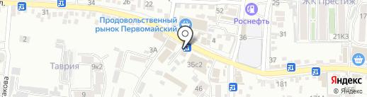 Лариса на карте Пятигорска