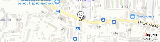 Бутоньерка на карте Пятигорска