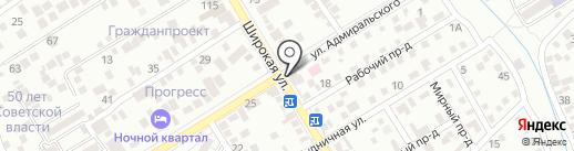Бананц на карте Пятигорска