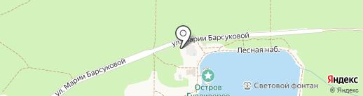Райский уголок на карте Железноводска
