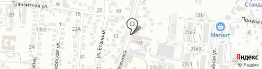 Автотест на карте Пятигорска