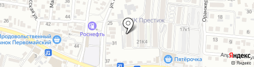 Гобелен на карте Пятигорска