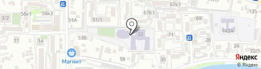 Средняя общеобразовательная школа №30 с углубленным изучением отдельных предметов на карте Пятигорска