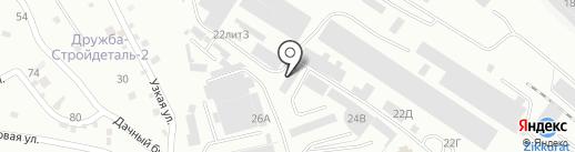 Югансим на карте Пятигорска