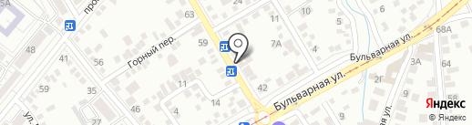 На Широкой на карте Пятигорска