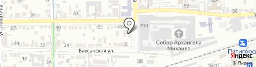 Амальтея на карте Пятигорска