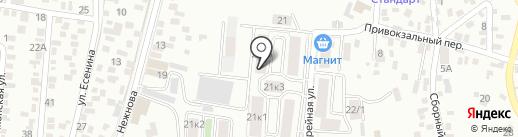 Миледи на карте Пятигорска