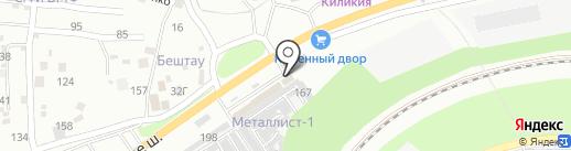 Шахтинская плитка на карте Пятигорска