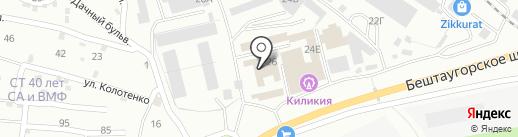 Ирбис на карте Пятигорска