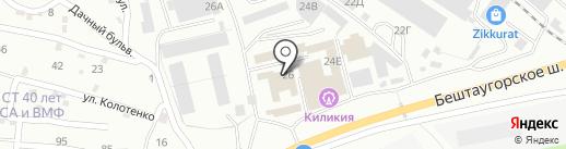 Дизель-КМВ на карте Пятигорска