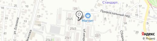 Аспект-тур на карте Пятигорска