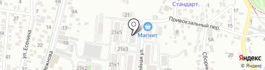 Альбатрос на карте Пятигорска