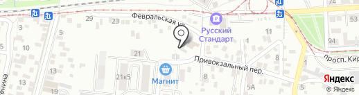 Горзеленстрой на карте Пятигорска