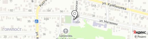 Средняя общеобразовательная школа №18 на карте Пятигорска
