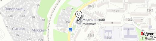 Пятигорский медицинский колледж на карте Пятигорска