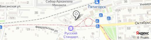 Фотостудия на карте Пятигорска