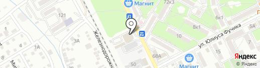 Пятёрочка на карте Пятигорска