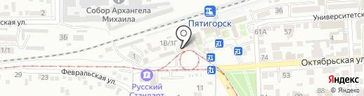 Русская игрушка на карте Пятигорска