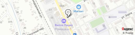 БроуБарБархат на карте Пятигорска