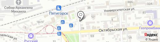 Jой на карте Пятигорска
