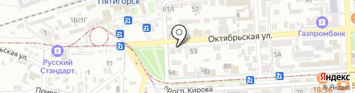 Артлайф на карте Пятигорска