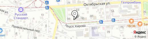 Первый Лучный на карте Пятигорска