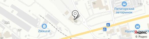 АВТОХОЛЛ центр Пятигорск на карте Пятигорска