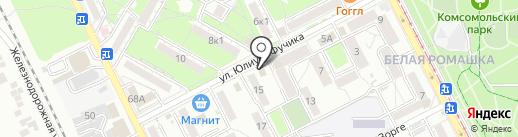 Нина на карте Пятигорска