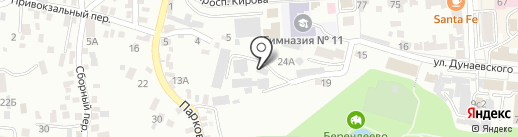 Темп на карте Пятигорска