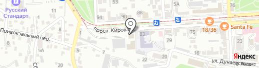 Городской Электрический Транспорт на карте Пятигорска