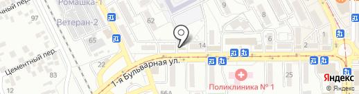 Светоч на карте Пятигорска