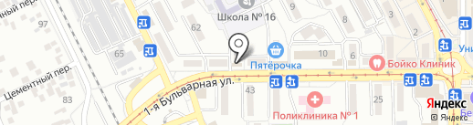 TianDe на карте Пятигорска