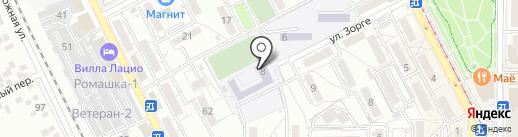 Средняя общеобразовательная школа №16 на карте Пятигорска