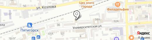 Центр гигиены и эпидемиологии на карте Пятигорска