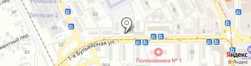 Точка цветочка на карте Пятигорска