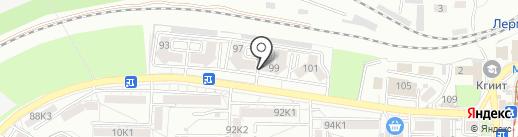 Мирца на карте Пятигорска